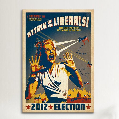 iCanvasArt 'Attack of the Liberals' by Anderson Design Group Vintage Advertisement on Canvas