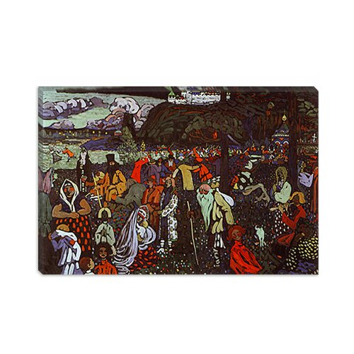 iCanvasArt Colorful Life by Wassily Kandinsky Painting Print on