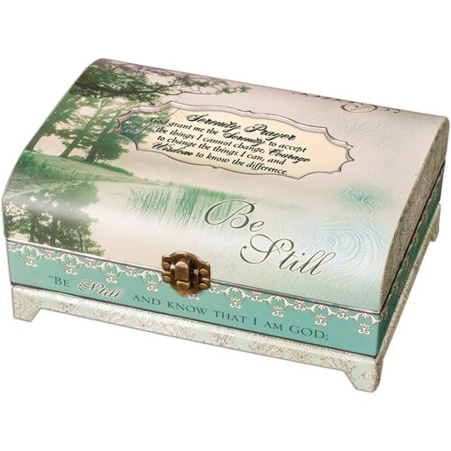 Cottage Garden Belle Papier Be Still Trunk/Serenity Prayer Box