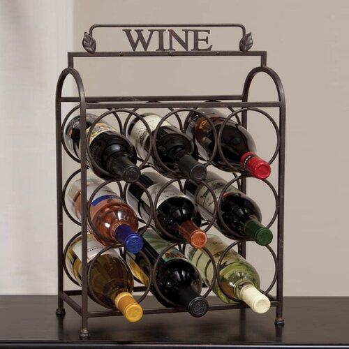 Vintage 9 Bottle Tabletop Wine Rack