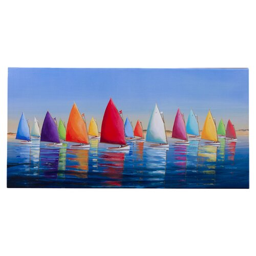 Outdoor Canvas Flying Colors Wall Decor