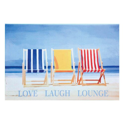 Outdoor Canvas Love Laugh Lounge Wall Decor