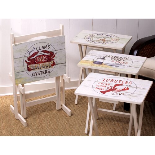 Cape Craftsmen Nautical TV Tray (Set of 4)