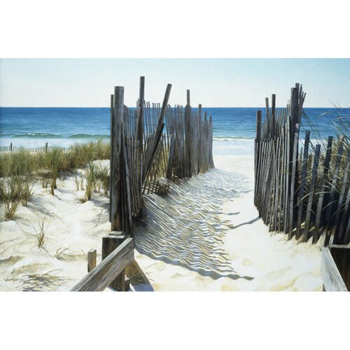 Cape Craftsmen Beach Access by Zhongping Shi Photographic Print on Canvas