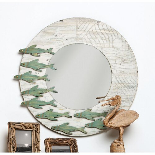 Fish Framed Wall Mirror