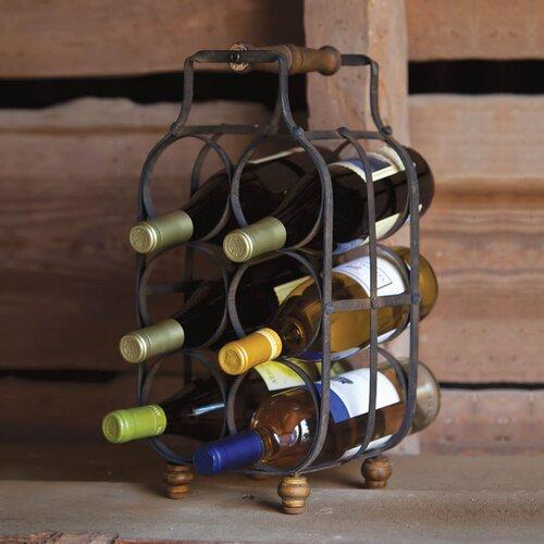 Everyday Retro 6 Bottle Tabletop Wine Rack