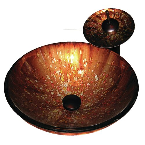 Distorto Hand Painted Glass Vessel Sink