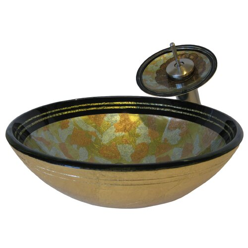 Celbrazione Hand Painted Glass Vessel Sink