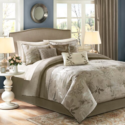 Madison Park Kayle 7 Piece Jacquard Comforter Set