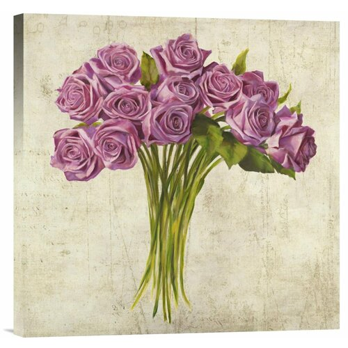 Bentley Global Arts 'Bouquet de Roses' by Leonardo Sanna Painting Print on Canvas