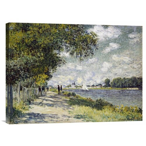 Bentley Global Arts 'The Seine at Argenteuil' by Claude Monet Painting Print on Canvas