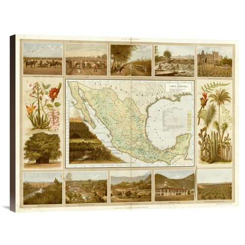 'Carta Agricola, 1885' by Antonio Garcia Cubas Graphic Art on Canvas