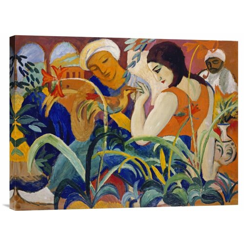'Eastern Women' by August Macke Painting Print on Canvas