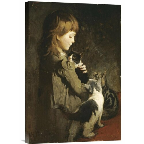 Bentley Global Arts 'The Favorite Kitten' by Abbott Handerson Thayer Painting Print on Canvas