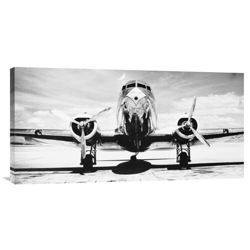 Bentley Global Arts 'Passenger Airplane on Runway' by Philip Gendreau Photographic Print on Canvas