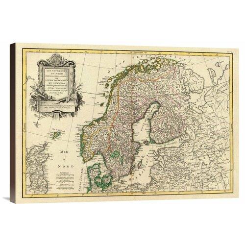 'Suede, Danemarck et Norwege, 1762' by Jean Janvier Graphic Art on Canvas
