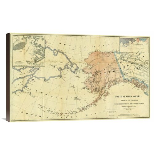 'Northwestern America Showing the Territory Ceded by Russia to the United States, 1867' by ...