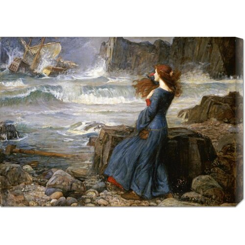 'Miranda - The Tempest' by John William Waterhouse Painting Print on Canvas