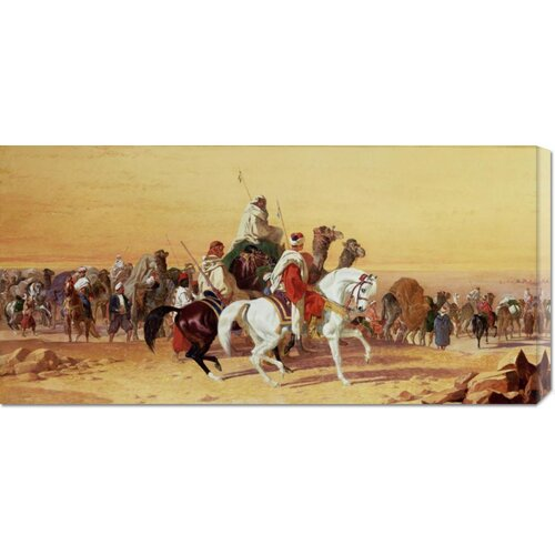 'An Arab Caravan' by John Frederick Herring Painting Print on Canvas