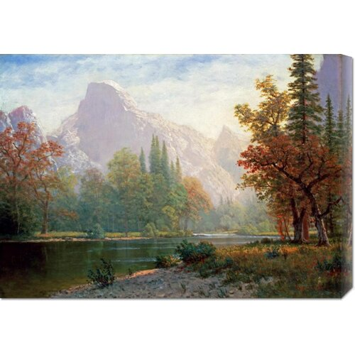 'Half Dome: Yosemite' by Albert Bierstadt Painting Print on Canvas