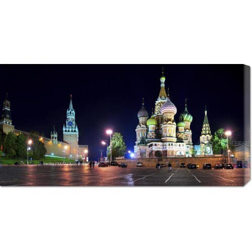 'Red Square at Night, Moscow' by Vadim Ratsenskiy Photographic Print on Canvas