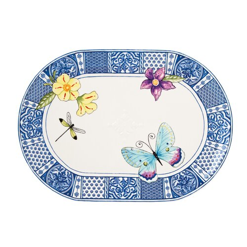 "Fitz and Floyd Courtyard 17"" Oval Platter"