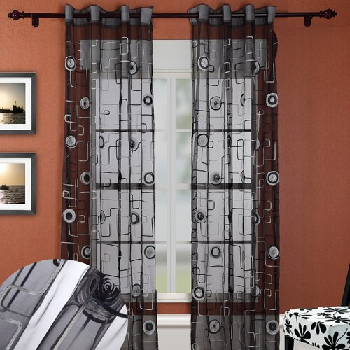 Chic Home Moda Organza Grommet Curtain Panel
