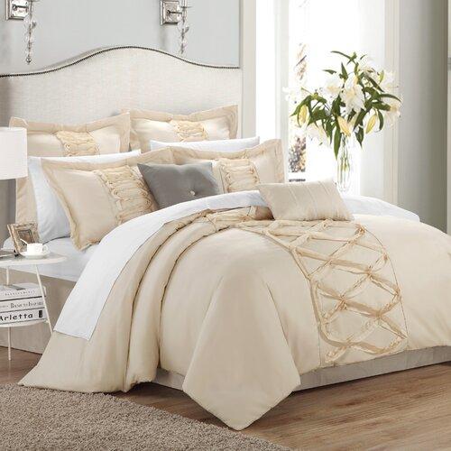 chic home ruth 8 piece comforter set reviews wayfair