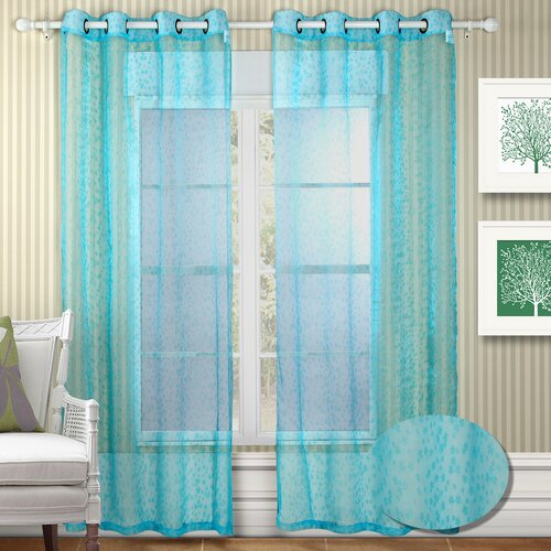 Chic Home Twinkle Semi Organza Grommet Curtain Panel