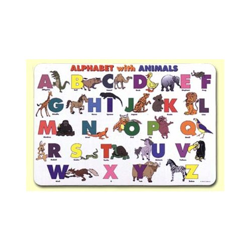Painless Learning Placemats Alphabet with Animals Placemat