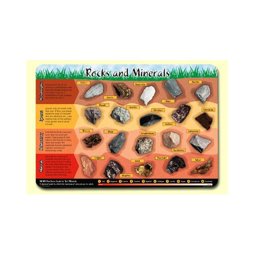 Painless Learning Placemats Rocks and Minerals Placemat