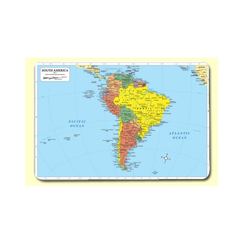 Painless Learning Placemats South America Placemat