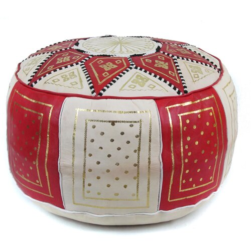 Ikram design fez moroccan leather pouf ottoman reviews wayfair - Design pouf ...