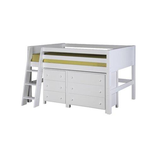 Camaflexi Twin Low Loft Bed with Storage