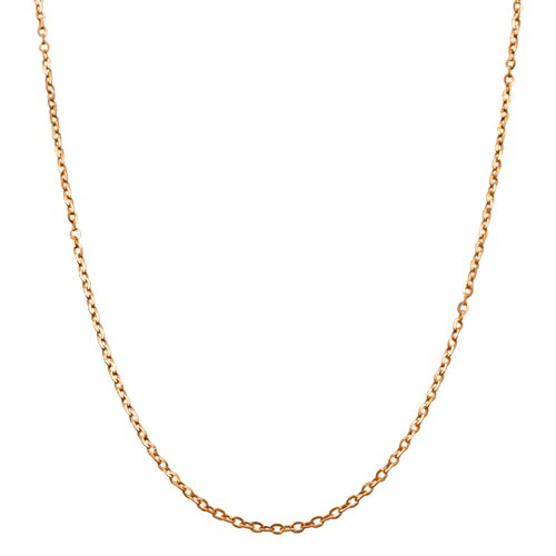Yellow Gold Flat Cable Link Chain