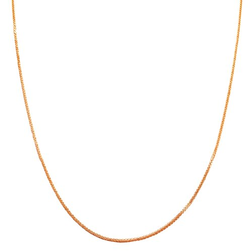 Rose Gold Square Wheat Chain