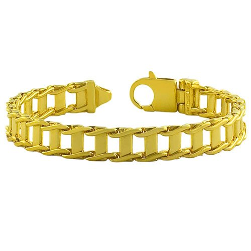 Fremada Jewelry Men's Fancy Link Bracelet