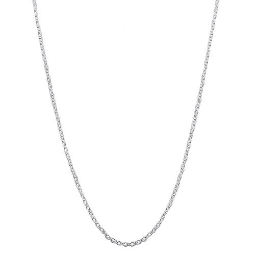High Polish White Gold Cable Chain