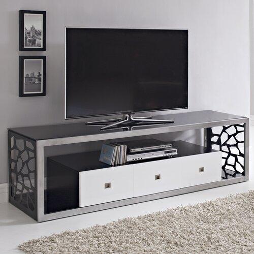 woodbridge home designs black modern mosaic 70 tv stand reviews wayfair. Black Bedroom Furniture Sets. Home Design Ideas