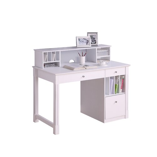 Home Loft Concept Deluxe Computer Desk with Hutch and Keyboard Tray