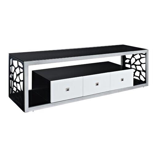 "Home Loft Concept Black Modern Mosaic 70"" TV Stand"