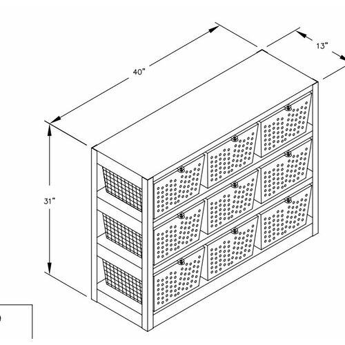 Salsbury Industries 3 Tier 3 Wide  Basket Locker