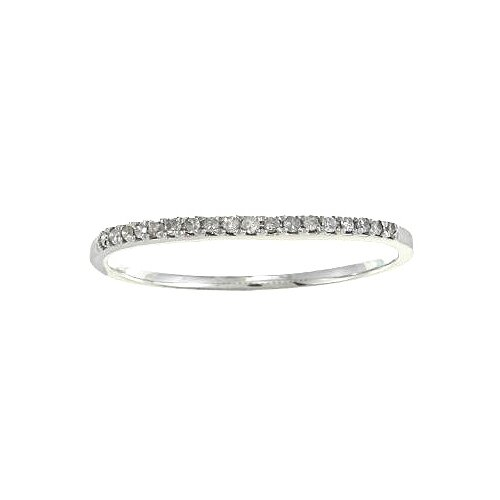 White Gold Curved Pave Set Diamond Band