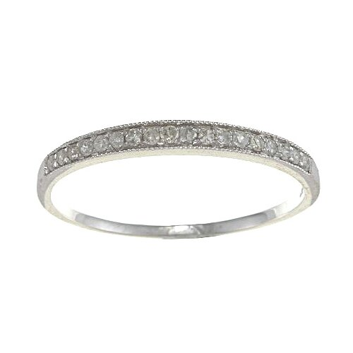 Gold Milgrain Diamond Band