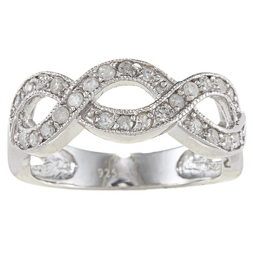 Sterling Silver Diamond Infinity Ring