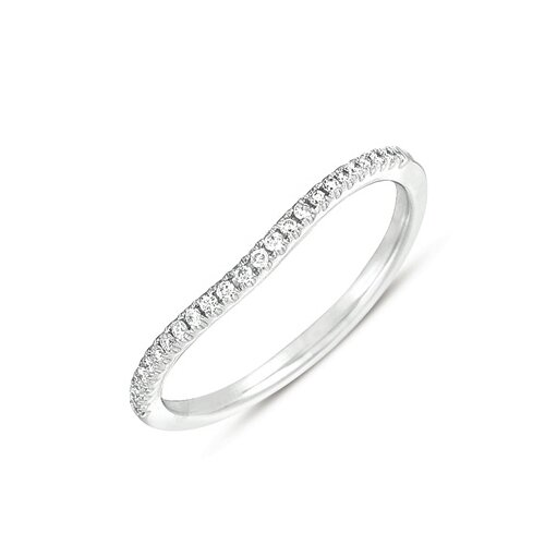 Designer Diamonds White Gold Curved Pave Set Diamond Band