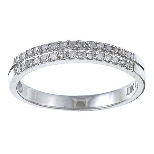 White Gold Double Row Diamond Band