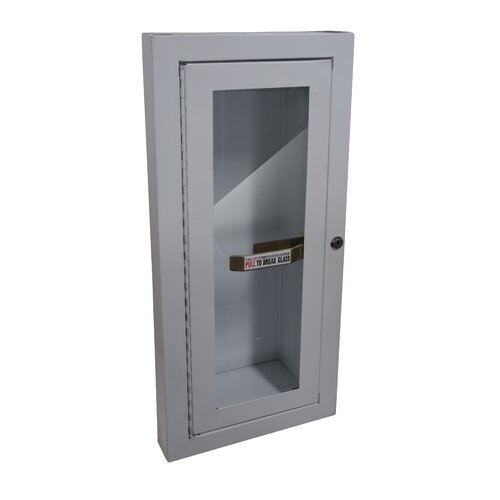 Buddy Products Semi Recessed Fire Extinguisher Cabinet