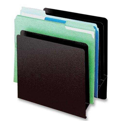 "Buddy Products Slant File Organizer,6-Pockets,9-7/8""x5-1/4""x10-1/2"",Black"