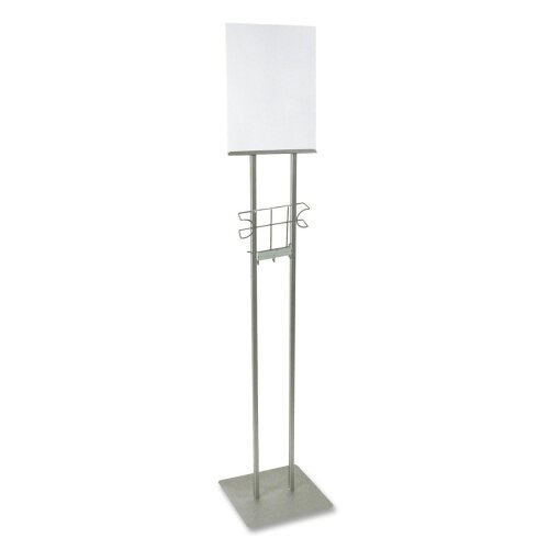 "Buddy Products Lobby Sign Holder, Stand, 12""x12""x48"", Silver"